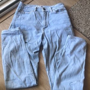 American apparel light wash high waisted jeans